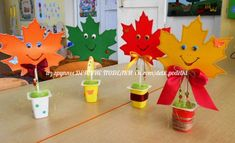 list v květináči Fall Arts And Crafts, Easy Fall Crafts, Fall Crafts For Kids, Crafts To Make, Kids Crafts, Art For Kids, Autumn Activities For Kids, Craft Activities, Preschool Crafts