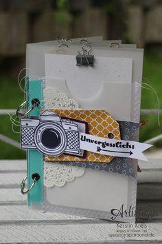 """MiniAlbum mit Zubehörset """"schnelle Überraschung"""" Stampin´ Up! Artisan DesignTeam BlogHop 21.08.2014"""