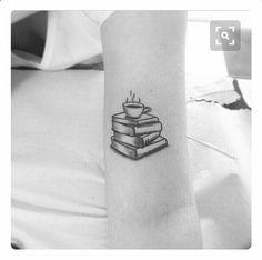 tattoo, book, and coffee-bild