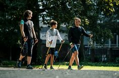 Discover nordic walking at Newfeel, by Decathlon. The first Nordic walking brand to offer shoes adapted to Nordic walking. Nordic walking sticks for adults and children. Nordic Walking Sticks, Walking Challenge, Cross Training, South Africa, Challenges, Exercise, France, Children, Kid