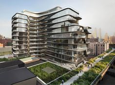 A modern day George Jetson-like Condo being built right by the HighLine Park (at 28th Street).    39 two to five bedroom apartments priced from $4.95 million to $50 million...