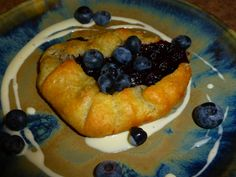local organic blueberry galette #capecod #organicfood #breakfast