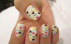 Passo a passo: nail art com corações coloridos! - Clube do Esmalte - CAPRICHO