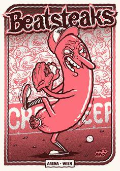 Michael Hacker Beatsteaks Vienna Posters