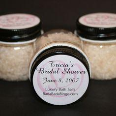 bath salts in sweet little jars bridal shower