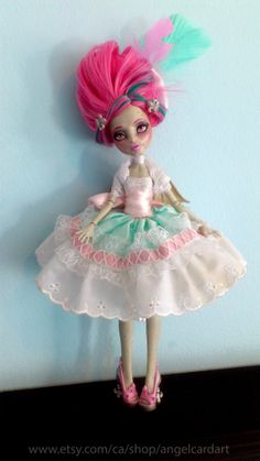 Lady  Rochelle Goyle Monster High Repaint by angelcardart on Etsy, $160.00