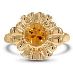 Retro Citrine Vintage Ring