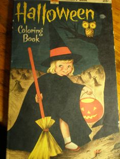 Halloween 1957 Coloring Book Dell Publishing by faciasmom on Etsy