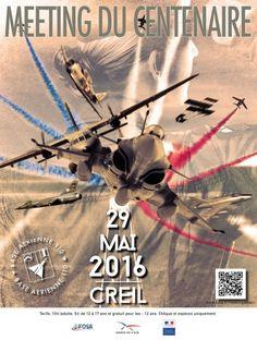 Meeting de Creil. Dimanche 29 Mai 2016, à la Base aérienne 110 de Creil, retrouvez au sol et en vol des avions anciens et des appareils de dernières générations.  Cette manifestation sera l'occasion de découvrir les savoir-faire  des armées françaises sur un site abritant aujourd'hui des organismes interarmées. Retrouvez aussi La Patrouille de France, le Rafale, les Mirages 2000 aux côtés d'avions civils pilotés par des passionnés d'aviation.