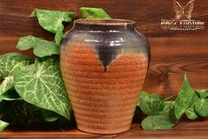 Muncie Pottery 1929 Black Peachskin Ribbed Vase - The Kings Fortune Light Reflection, Pottery Art, American Art, Accent Decor, Indiana, Color Schemes, Arts And Crafts, Clay, Vase