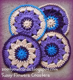 crochet mandalas and coasters Beautiful patterns from Zooty Owl
