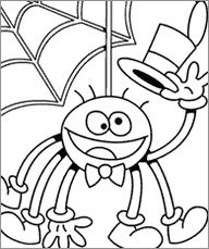 spider in spider web coloring page plantilles variades on halloween coloring pages spiders