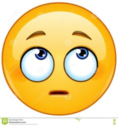 Photo about Emoticon face with rolling eyes - 81479197