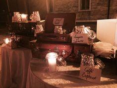 Allestimento Confettata // matrimonio tema Viaggio, stile Vintage