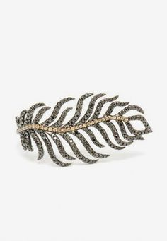 18k Gold and Diamond Feather Ring