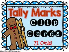 Need something for early finishers, centers, and small group? Do you have GINGERBREAD theme?! These Clip cards are PERFECT!This packet includes 21 clip cards to help students count, recognize tally marks, skip counting, counting on, and identifying numbers.