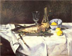 The salmon - Edouard Manet 1868