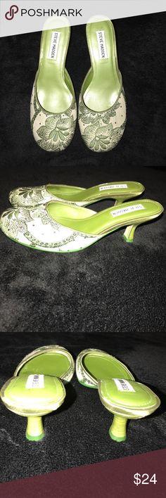 Steve Madden Green Sparkle Heels Size 6 Steve Madden Shoes Heels