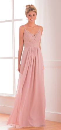 Flattering and elegant, this bridesmaid dress is versatile enough to fit every occasion. This Poly Chiffon dress has a spaghetti V-neckline, an A-line skirt, and features ruching and lace in the bodice. Jasmine Bridesmaids Dresses, Backless Bridesmaid Dress, Floral Bridesmaid Dresses, Bridesmaid Dresses Online, Mob Dresses, Floral Dresses, Wedding Dress Shopping, Dream Wedding Dresses, Wedding Gowns