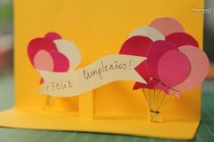 How to make creative birthday card diy tutorial 13 Diy Arts And Crafts, Hobbies And Crafts, Paper Crafts, Birthday Card Pop Up, Diy Birthday, Pop Out Cards, Child Day, Diy Cards, Craft Gifts