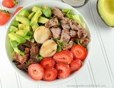 Scallop and Tenderloin Salad is a healthy dish recipe combines fruit, veggies and tenderloin with the Sea Scallops which are packed with Omega and protein! Lean Meat Recipes, Grilling Recipes, Veggie Recipes, Seafood Recipes, Salad Recipes, Dinner Recipes, Free Recipes, Alkaline Recipes, Lunch Recipes