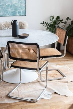 Charlotte Cadé et Maxime Brousse - The Socialite Family - Expolore the best and the special ideas about Chair design Decoration Inspiration, Interior Inspiration, Decor Ideas, Tulip Table, Marcel Breuer, Parisian Apartment, Brighton Apartment, Apartment Living, Mid Century Modern Furniture