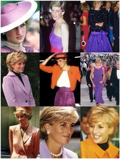Princess Diana in Purple and Orange.
