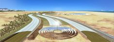An Interesting Sahara's Forest Project where Saltwater Greenhouse Grows Vegetables In Places Vegetables Won't Grow Bjarke Ingels Architecture, A As Architecture, Concentrated Solar Power, Desert Sahara, Legume Bio, Greenhouse Growing, Eden Project, Solar Projects, Sustainable Design