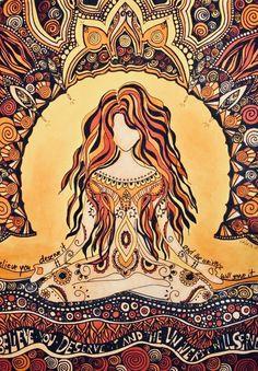Illustration Photo, Posca Art, Meditation Art, Goddess Art, Hippie Art, Visionary Art, Psychedelic Art, Aesthetic Art, Female Art