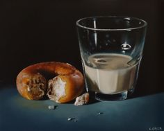 Doughnuts and sweet buns: Lucy Crick Tjalf Sparnaay, Iced Buns, Food Painting, Incredible Edibles, Realistic Paintings, Good Enough To Eat, Still Life Art, Food Drawing, High Art