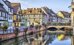 Colmar, Alsácia, França, inspirou a animação