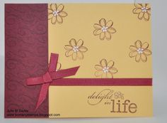 So Many Stamps Stampin' Up! Delight in life note card
