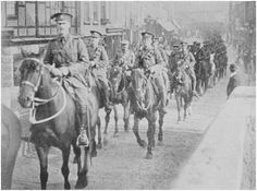 THE FIFE AND FORFAR YEOMANRY, CROSSING THE BRIDGE, ST IVES.