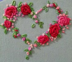21 Super Ideas For Embroidery Heart Stitch Bead Patterns Etsy Embroidery, Embroidery Hearts, Hand Embroidery Flowers, Hand Embroidery Stitches, Silk Ribbon Embroidery, Hand Embroidery Designs, Christmas Embroidery Patterns, Brazilian Embroidery, Quilling Designs