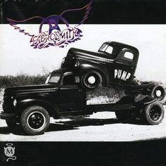 """In Aerosmith released """"Pump"""", their tenth studio album. Aerosmith found themselves in law school textbooks after a small rock band named Pump sued Aerosmith's management company for service mark infringement. Aerosmith won the case. Musica Disco, Musica Pop, Rock Album Covers, Classic Album Covers, Lp Cover, Cover Art, Heavy Metal, Rock And Roll, Pochette Album"""