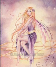 Purple Sunset by Kuoma Magical Creatures, Fantasy Creatures, Fairy Land, Fairy Tales, Fairy Dust, Purple Sunset, Fairy Pictures, Vintage Fairies, Butterfly Fairy
