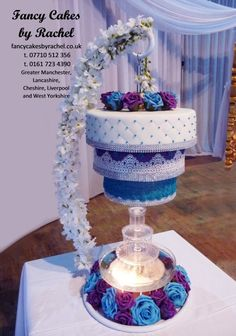 chandelier cake and fountain - Extreme Wedding Cakes, Amazing Wedding Cakes, Wedding Cake Stands, Elegant Wedding Cakes, Wedding Cake Designs, Amazing Cakes, Wedding Ideas, Cake And Cupcake Stand, Wedding Cakes With Cupcakes