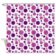 Fun Purple Bubbles Shower Curtain on CafePress