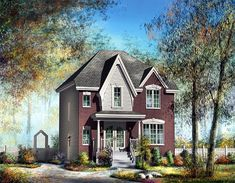 House Plan 49760 | Victorian Plan with 1367 Sq. Ft., 3 Bedrooms, 2 Bathrooms