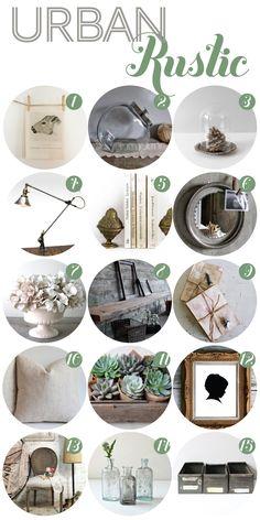 urban-rustic ideas like raw wood, white flowers, linen                                                                                                                                                      More