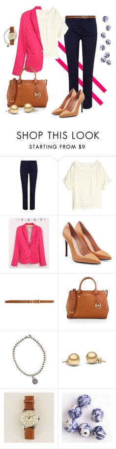 """Pink power"" by marijime on Polyvore featuring moda, EAST, H&M, Roland Mouret, Dorothy Perkins, MICHAEL Michael Kors, Tiffany & Co., J.Crew, WorkWear y Spring"