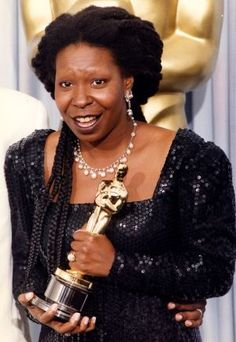 "3/12/14 11:27a  The Academy Awards Ceremony 1991: Whoopi Goldberg  Best Supporting Actress Oscar  for ""Ghost"" 1990."