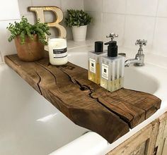 "1,513 Likes, 47 Comments - Claire McFadyen (@louisagraceinteriors) on Instagram: ""I asked for a rustic bath board and I certainly got rustic!! Love it though - thank you to my…"""