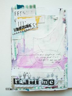 made by Marysza ► SODAlicious art journal challenge No12
