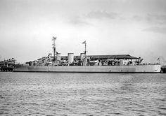 Ships- HMS Apollo (M01) in August, 1945, minelayer