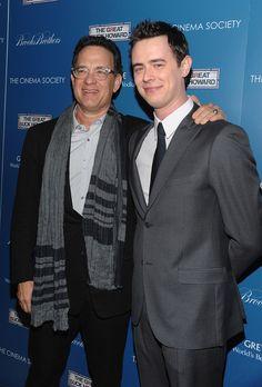 Tom Hanks & Colin Hanks (son):