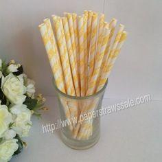 White YIPPEE Yellow Striped Paper Straws http://www.paperstrawssale.com/white-yippee-yellow-striped-paper-straws-500pcs-p-270.html