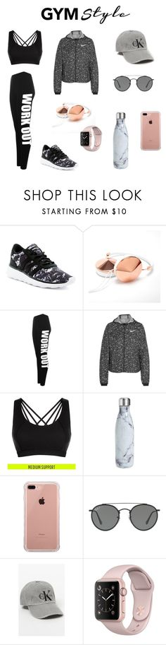 """""""Workout Wear!"""" by olympia-valance ❤ liked on Polyvore featuring adidas, WearAll, NIKE, Sweaty Betty, S'well, Belkin and Ray-Ban"""