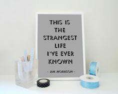 Typography Print Morrisson Quote The Strangest by SacredandProfane, $20.00
