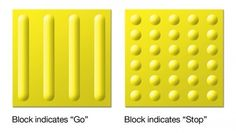 The two different styles makes a clear indication for the visually impaired on when to go and stop.